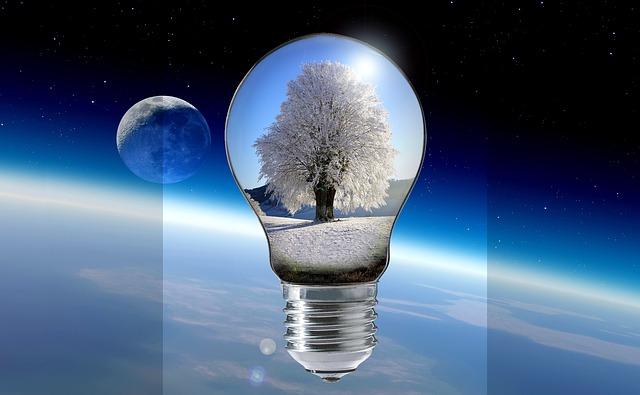 zima v žárovce