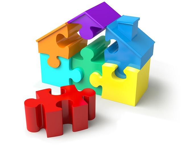 skládání domku