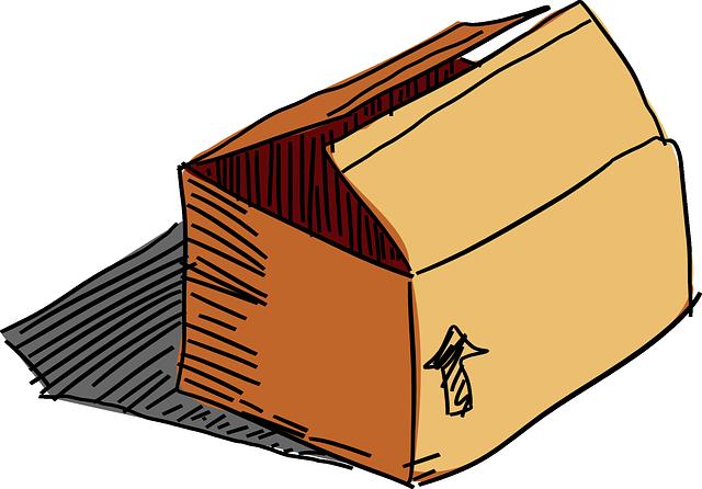 krabice na papíru